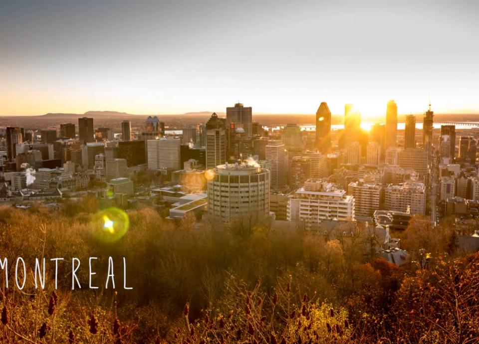 Levée du Soleil sur Montréal depuis le Mont Royal en
